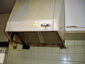 台所の換気扇取り替え