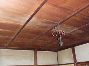[久留米市北野町]和室の竿縁天井の塗装