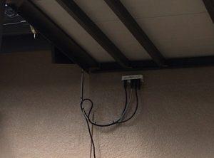 久留米市北野町でのテレビ配線の新設工事